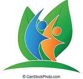 Leafs und Happy People Logo