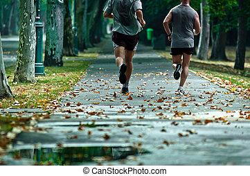 Lebe ein gesundes Leben, laufe jeden Tag mit deinen Freunden