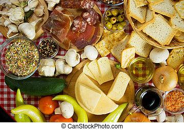 Lebensmittelzutaten aus dem Mittelmeerraum