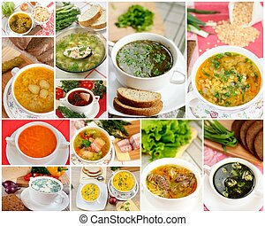 Lecker hausgemachte Suppen, Collage