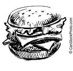 Lecker saftiger Burger