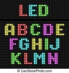 LED-Display Alphabet.