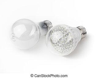 LED und Glühbirnen