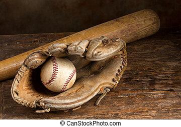 Leder-Baseballhandschuh.