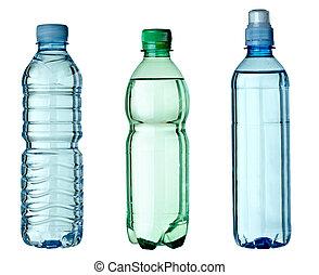 Leer gebrauchte Müllflaschen-Umwelt