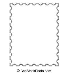 Leere Briefmarke