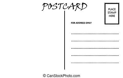 Leere leere Postkartenvorlage.