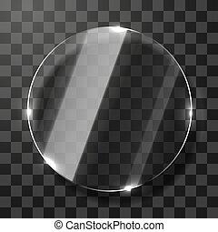 leerer , circle., durchsichtig, rahmen, glas, form