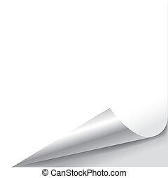 Leeres Blatt Papier mit Seitenrollen.