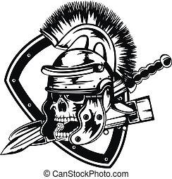 legionary, totenschädel, helm