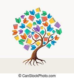 Lehrbuch-Konzept Illustration