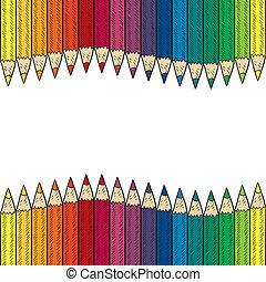 Leicht farbige Bleistiftgrenze