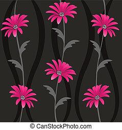 Leicht mit Blumenmustern