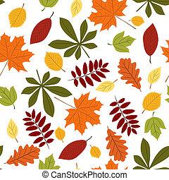 Leicht mit Herbstblättern