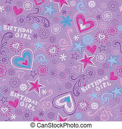 Leichte Geburtstagsdoodles-Muster