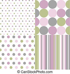 Leichte Muster, polka dots