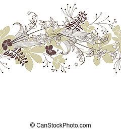 Leichte Pastete mit Waldblumen und Pflanzen