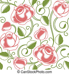 Leichte Rosenmuster