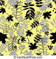 Leichte schwarze Blätter