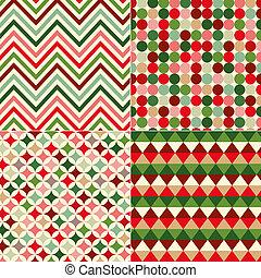 Leichte Weihnachtsfarbenmuster