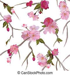 Leichter Hintergrund mit Blumen