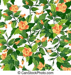 Leichter Hintergrund mit orangefarbenem Ross