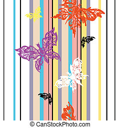 Leichter Hintergrund mit Schmetterling