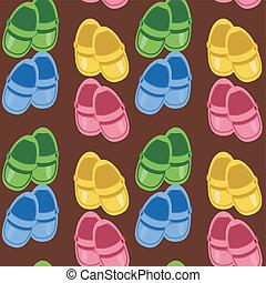 Leichter Hintergrund mit Schuhen