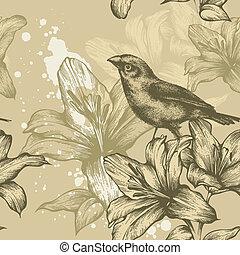 Leichter Hintergrund mit Vögeln und