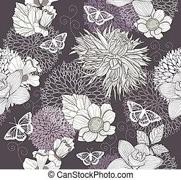 Leichtes Blumen-Faltermuster