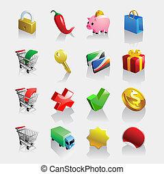 Leichtes E-Commerce-Ikonset