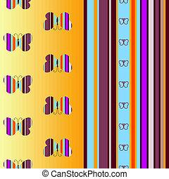 Leichtes farbenloses gestreiftes Muster