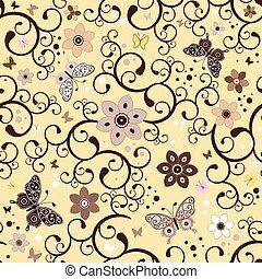 Leichtes florales gelbes Muster