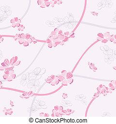 Leichtes Frühjahrsblumenmuster