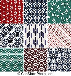 Leichtes japanisches Muster