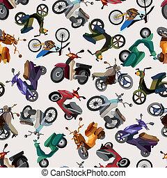 Leichtes Motorradmuster