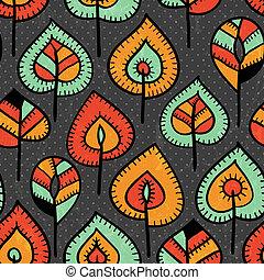 Leichtes Muster mit Blättern