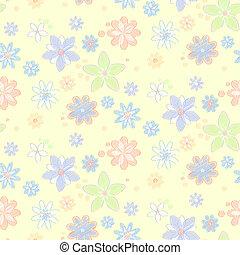 Leichtes Muster mit Blumen