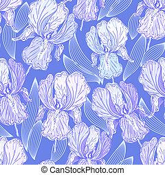 Leichtes Muster mit Iris