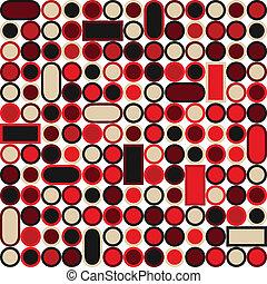Leichtes Muster mit Kreisen und Quadraten