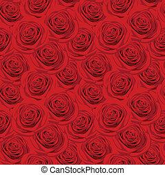 Leichtes Muster mit roten Rosen