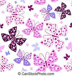 Leichtes Muster mit Schmetterlingen