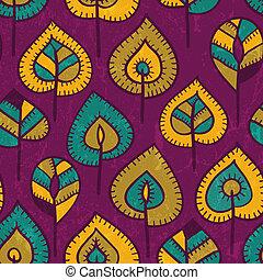 Leichtes Muster mit stilisierten Blättern.