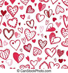 Leichtes Muster mit valentinen Herzen, Zeichnungen für Ihr Design