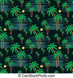 Leichtes Palmmuster