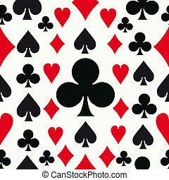 Leichtes Pokermuster im Hintergrund