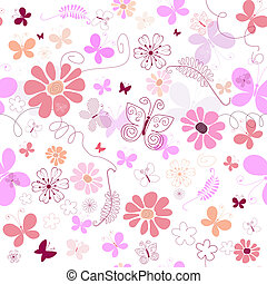 Leichtes rosa Blütenmuster