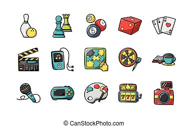 Leisure and Hobby Icons set,eps10.