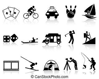 Leisure- und Freizeit-Icons gesetzt.