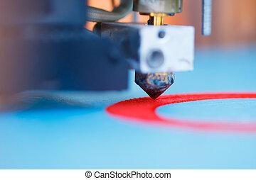 Leiter 3D Drucker in Aktion.